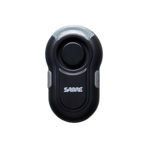SABRE Personal Alarm with LED Light Black