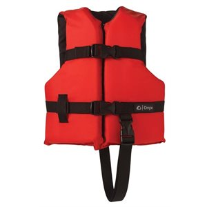ONYX General Purpose Life Jacket Infant 20-30LB Red