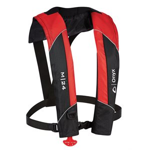ONYX M-24 Manual Inflatable Life Jacket Red