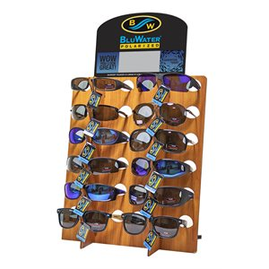 Polarized Buoyant 12 Pieces (4 Models) Dark Wood Counter Dis