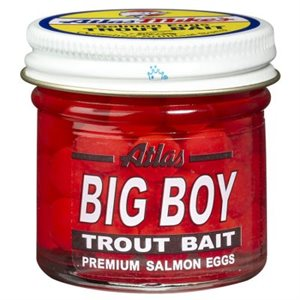 ATLAS MIKES Mike's Big Boy Salmon Egg Trout Bait Red